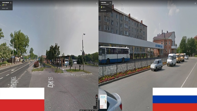 Польша Россия сравнение Вжесьня Ялуторовск Выборг Polska Rosja porównanie Września Jałutorowsk