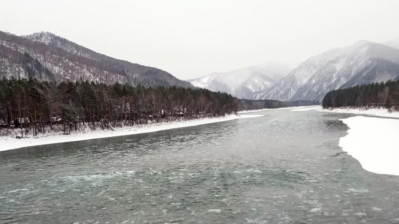 Алтайская зимовка. Декабрь. Бирюзовая Катунь. Лебединое озеро. Altai Wintering. December.Turquoise Katun. Swan lake