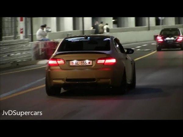 CRAZY LOUD BMW M3 E92 Coupe in Monaco - Accelerations Revs!