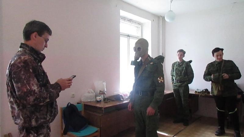 Военно-полевые сборы (2018). Противогаз.