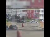 Взрыв газового баллона в припаркованном автомобиле.