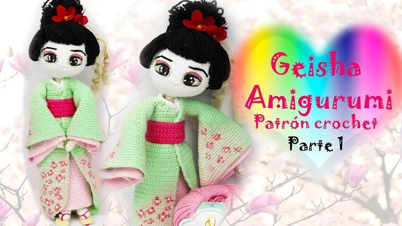 Amigurumi Geisha, muñeca a crochet (parte 1/5)