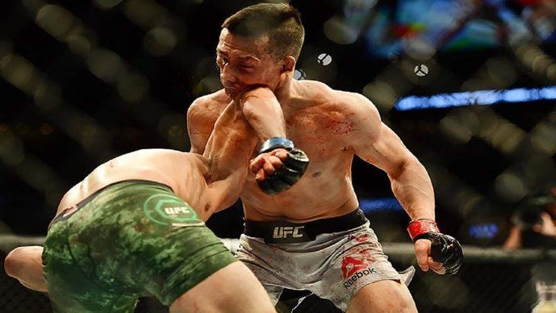 МОЩНЫЙ НОКАУТ ЛОКТЕМ UFC