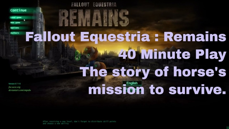 Fallout Equestria: Remains | itch.io | My Little Pony | Pip | Fluttershy | Applejack | Spike