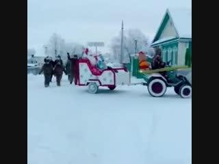 Новогодний парад в Сабинском районе РТ
