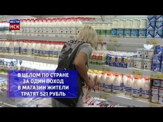 Новосибирцы за один поход в магазин тратят 436 рублей