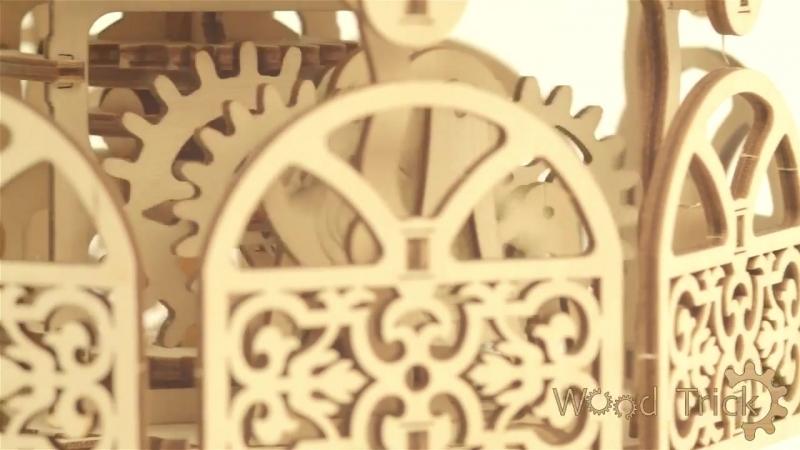 Механический 3D пазл Карусель, Wood Trick