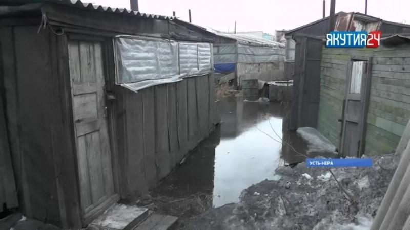 Дома в Усть-Нере Оймяконского района топит канализационными водами