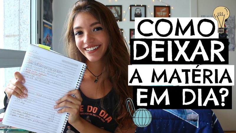 COMO COLOCAR A MATÉRIA ATRASADA EM DIA! - Débora Aladim