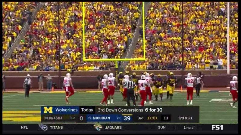 NCAA 2018 Week 04 Nebraska at Michigan