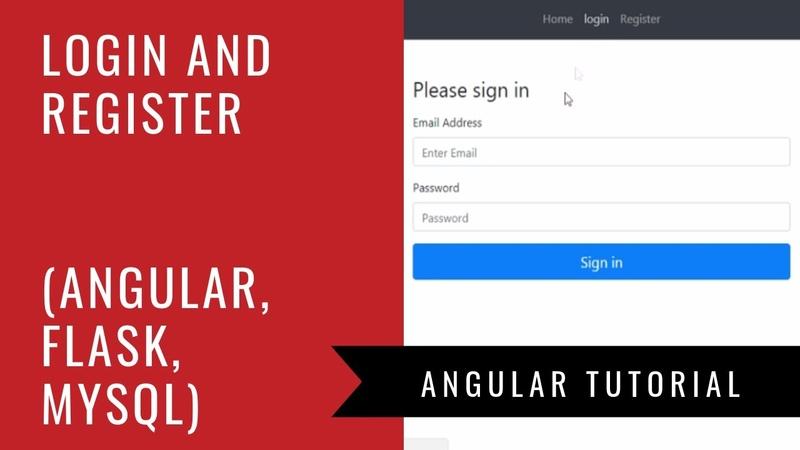 Angular 6 Flask MySQL Build a Login and Registration Web App