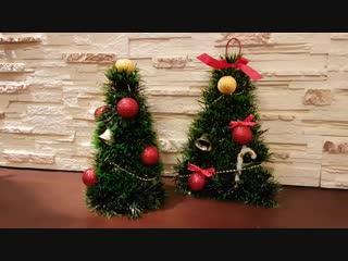 Новогодняя Елочка Своими Руками Из Мишуры ❋ 🎅❋ DIY Две Елки На стол и На двери
