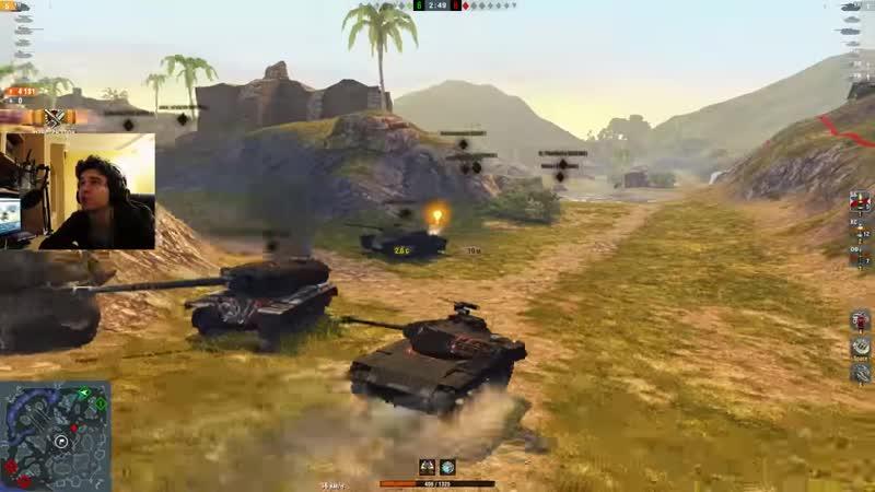 WoT Blitz Черный Бульдог M 41 90 подавился раком Их не убить World of Tanks Blitz WoTB