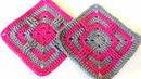 Kolay Kare Motif Battaniye Yapımı Crochet Granny Square Tutorial 12
