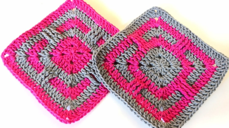 Kolay Kare Motif / Battaniye Yapımı / Crochet Granny Square Tutorial 12