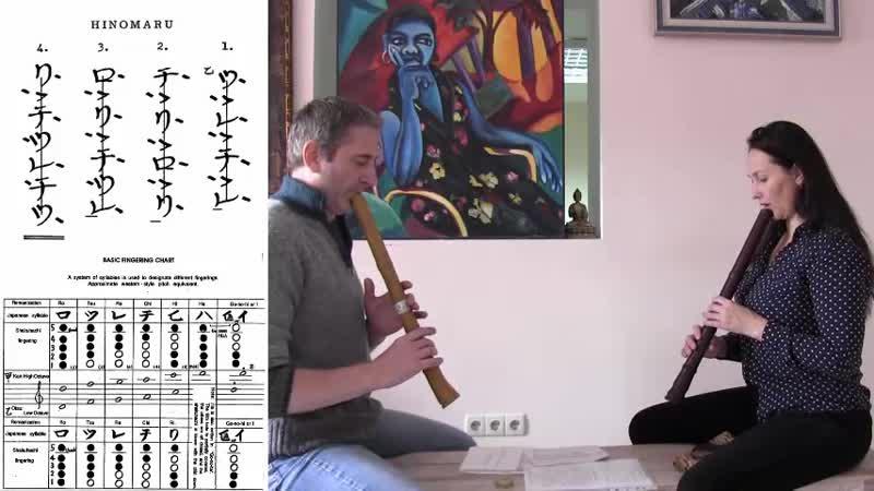 ПЕРВЫЙ УРОК Юрий Беккер Ольга Парфёнова обучение игре на японской флейте в Оренбурге