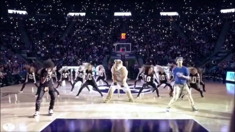 Ayo and Teo Cosmo Cougar Half Time Performance at BYU Basketball game