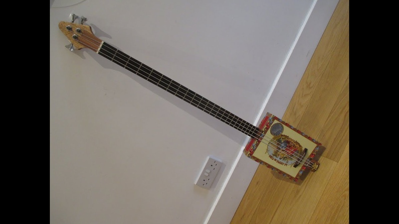 Making a Cigar Box Guitar Bass