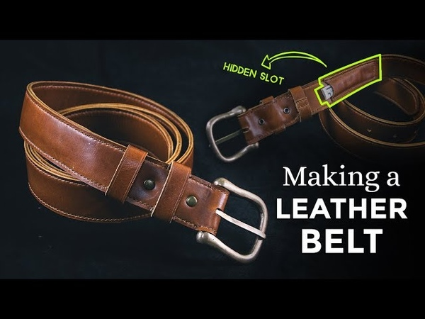 Making a Leather Belt with Hidden Compartment [ Week 43/52 ]