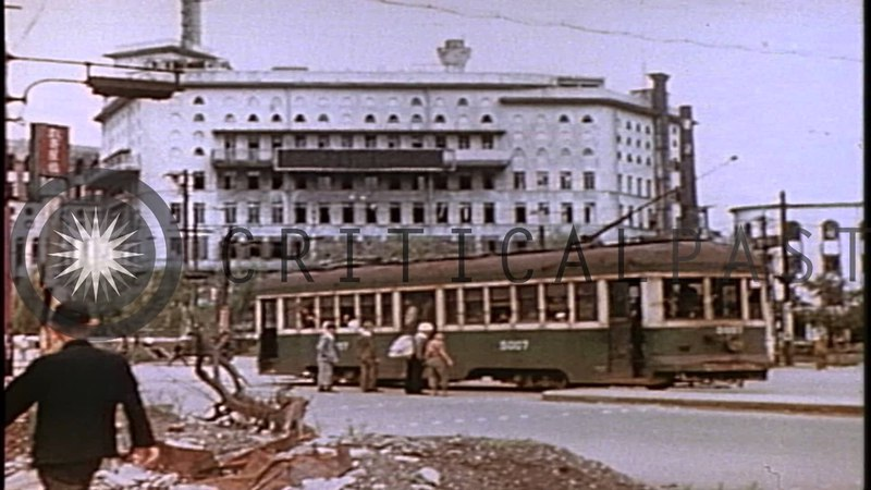 Color footage of Tokyo following WW2. August, 1945