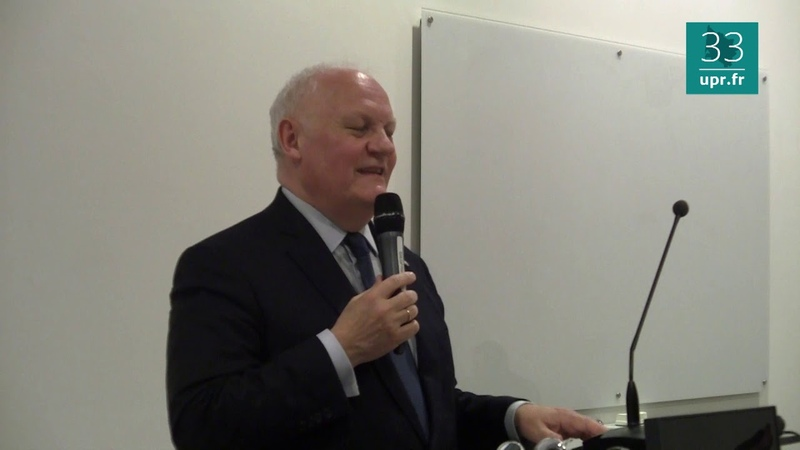 F. Asselineau à Sciences Po Bordeaux le 21 mars 2019 Europe Frexit