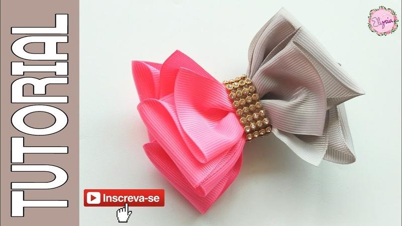 Laço Camila V.2 🎀 Ribbon Bow Tutorial 🎀 DIY by Elysia Handmade