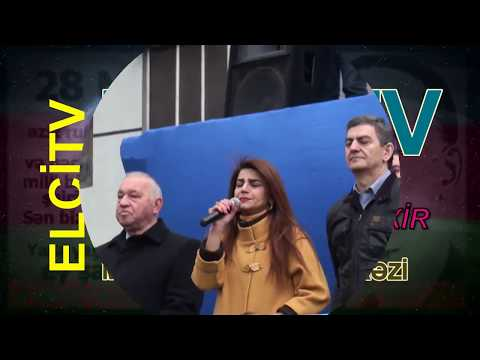 14 aprel 2018 MİTİNQİ: Yazar Zümrüd Yağmurun çıxışı