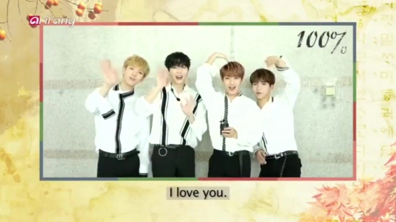 [SHOW] 180921 Korean Thanksgiving Day Message from 100% @ ARIRANG TV Simply K-Pop Ep.329