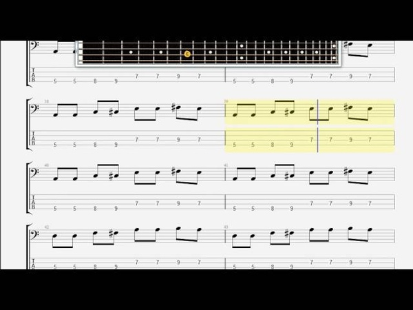 Beatles The Dizzy Miss Lizzy BASS GUITAR TABLATURE