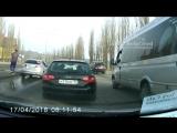 Разборки на дорогах Белгорода 17.04.2018