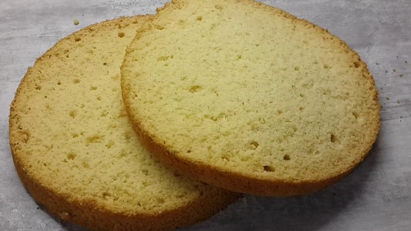 Шифоновый бисквит - готовится очень быстро вкусный и нежный