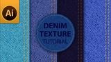Tutorial Seamless Denim Jeans Texture in Adobe Illustrator