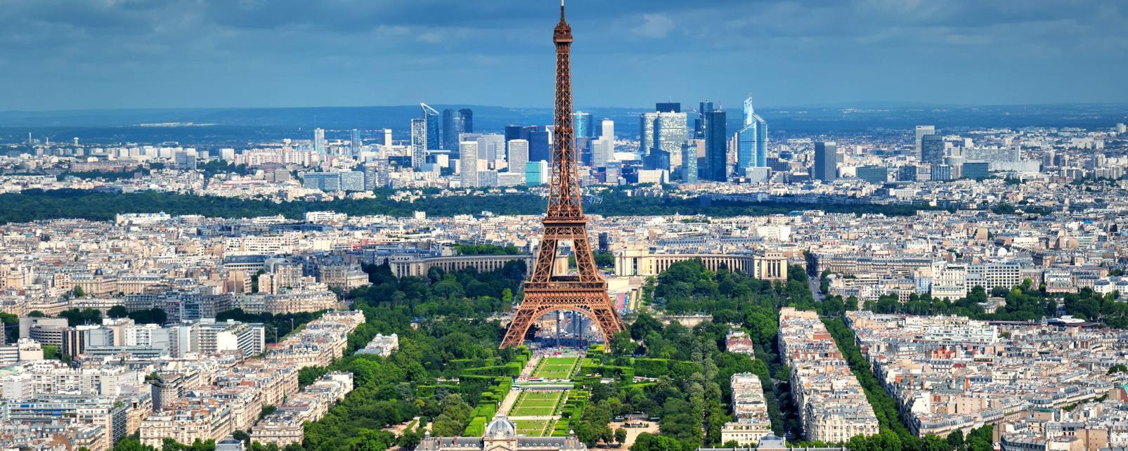 Панорама исторической части Парижа