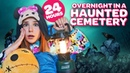 24 HOUR CHALLENGE OVERNIGHT IN CEMETERY (SCARY)⚰️👻  Piper Rockelle