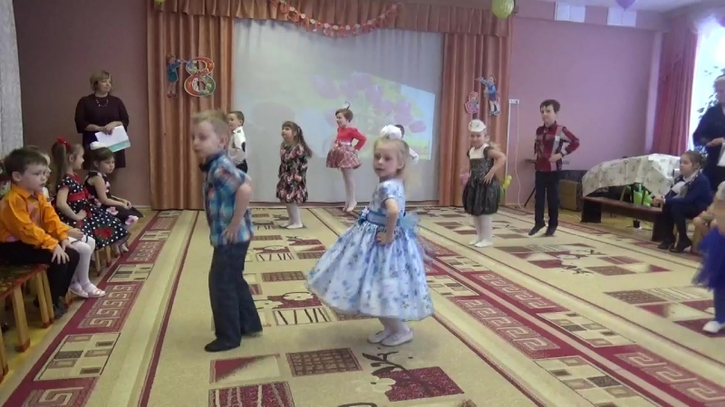 8 марта 2018 Садик 74 Санкт-Петербурга Танец группа 10