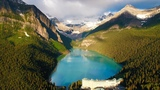 Above the Rocky Mountains - Banff in 4K Nature Relaxation Ambient Aerial Film + Music for Healing
