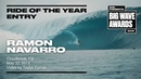 Ramon Navarro at Cloudbreak 2019 Ride of the Year Entry WSL Big Wave Award