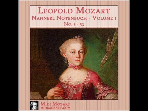 Leopold Mozart - Nannerl Notenbuch, Volume 1, No 1 - 32