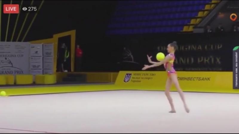 Дарья Трубникова мяч (многоборье) Международнйы турнир юниорок 2018