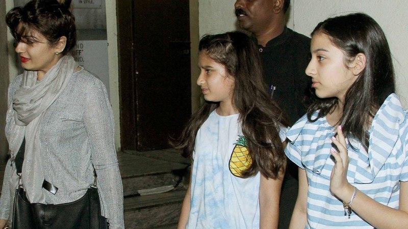 Raveena Tandon and Daughter Rasha Thadani Spotted At PVR Juhu