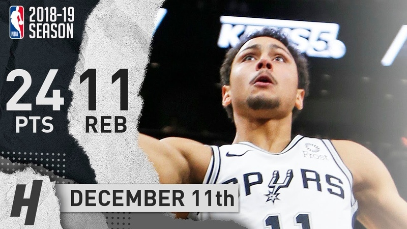 Bryn Forbes Full Highlights Spurs vs Suns 2018.12.11 - 24 Pts, 3 Ast, 11 Rebounds!