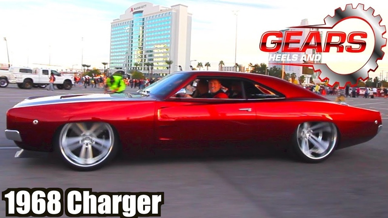 1968 Dodge Charger RTR V10 at SEMA by Powered by Johan Gears Wheels and Motors