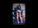 Schoolgirl Has No Idea She's Revealing Her Sweet Ass Cheeks | студентка , Под юбкой