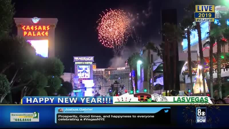MTN во время новогоднего салюта в Вегасе 2019 год