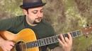 Acoustic blues scale - fun, easy beginner guitar