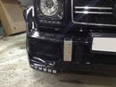Наши работы по Mercedes Gelandewagen Brabus : Замена переднего бампера с покраской и покраска переднего правого расширителя крыла.