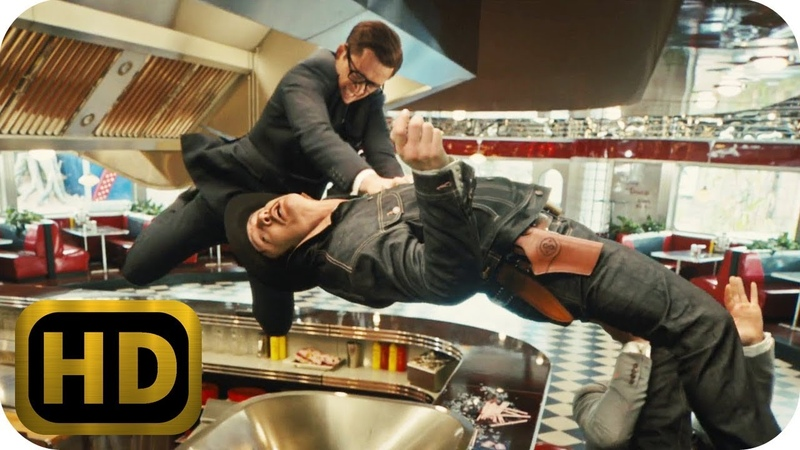 Agent Whiskey vs. Harry and Eggsy | Kingsman: The Golden Circle (2017) | MovieClip | 1080p HD