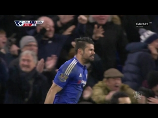 Diego Costa Goal Manchester United - Chelsea 1-1 7.02.2016
