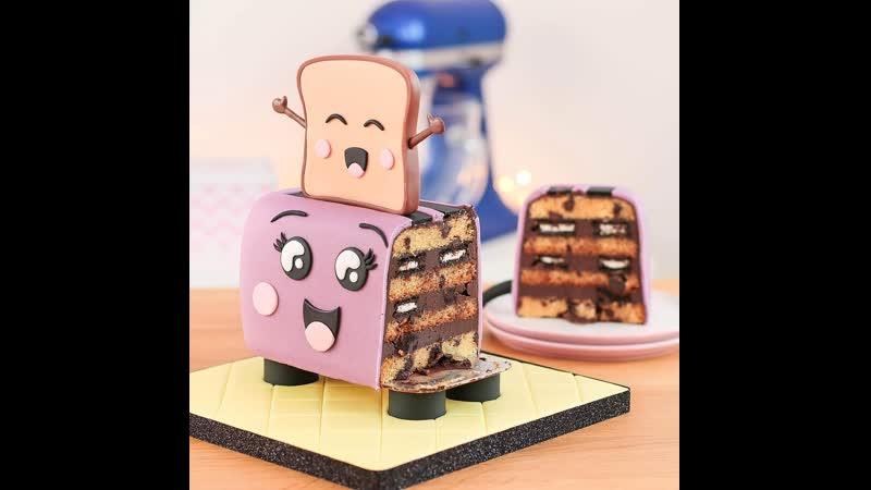 Как сделать торт Тостер Наша группа в ВК Торты на заказ Мировые шедевры