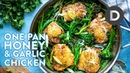 ONE PAN Honey Garlic Chicken Dinner!